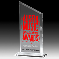 7603-1S (Screen Print), 7603-1L (Laser), 7603-1P (4Color Process) - Slim Line Acrylic Billboard Awards